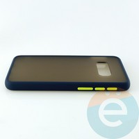 Накладка пластиковая матовая с силиконовой окантовкой для Samsung Galaxy S10E синяя