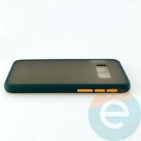 Накладка пластиковая матовая с силиконовой окантовкой для Samsung Galaxy S10E зелёная