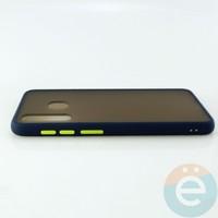 Накладка пластиковая матовая с силиконовой окантовкой для Samsung Galaxy A30/A20 синяя