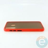 Накладка пластиковая матовая с силиконовой окантовкой для Samsung Galaxy A30/A20 красная