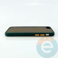 Накладка пластиковая матовая с силиконовой окантовкой для iPhone 6/6s/7/8 зелёная