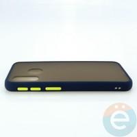 Накладка пластиковая матовая с силиконовой окантовкой для Samsung Galaxy A40 синяя