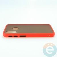 Накладка пластиковая матовая с силиконовой окантовкой для Samsung Galaxy A40 красная