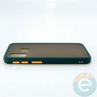 Накладка пластиковая матовая с силиконовой окантовкой для Samsung Galaxy A40 зелёная
