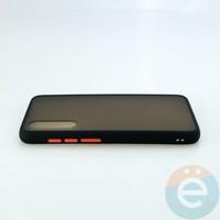 Накладка пластиковая матовая с силиконовой окантовкой для Xiaomi Mi A3 Lite/CC9 чёрная