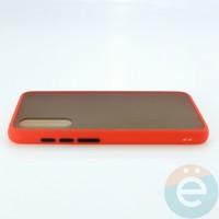 Накладка пластиковая матовая с силиконовой окантовкой для Xiaomi Mi A3 Lite/CC9 красная