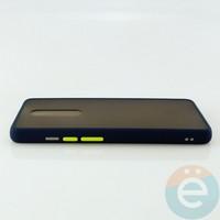 Накладка пластиковая матовая с силиконовой окантовкой для Xiaomi Mi 9T/K20/K20 Pro синяя
