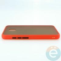 Накладка пластиковая матовая с силиконовой окантовкой для Xiaomi Redmi 8A красная