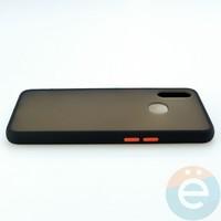 Накладка пластиковая матовая с силиконовой окантовкой для Samsung Galaxy A10S чёрная