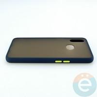 Накладка пластиковая матовая с силиконовой окантовкой для Samsung Galaxy A10S синяя