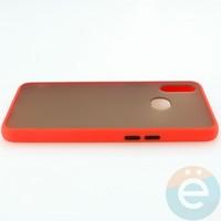 Накладка пластиковая матовая с силиконовой окантовкой для Samsung Galaxy A10S красная