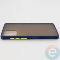 Накладка пластиковая матовая с силиконовой окантовкой для Samsung Galaxy S11 синяя