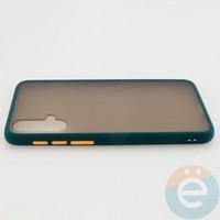 Накладка пластиковая матовая с силиконовой окантовкой для Huawei Nova 5 зелёная