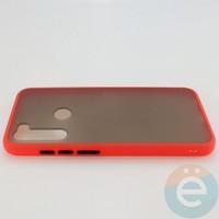 Накладка пластиковая матовая с силиконовой окантовкой для Xiaomi Redmi Note 8T красная