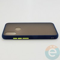 Накладка пластиковая матовая с силиконовой окантовкой для Xiaomi Redmi 7 синяя