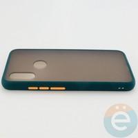 Накладка пластиковая матовая с силиконовой окантовкой для Xiaomi Redmi 7 зелёная