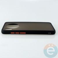 Накладка пластиковая матовая с силиконовой окантовкой для Huawei Mate 30 чёрная
