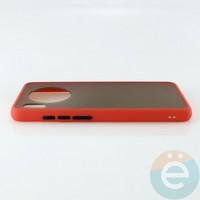 Накладка пластиковая матовая с силиконовой окантовкой для Huawei Mate 30 красная