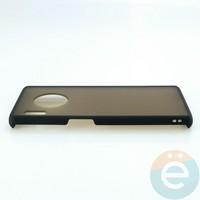 Накладка пластиковая матовая с силиконовой окантовкой для Huawei Mate 30 Pro чёрная