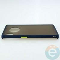 Накладка пластиковая матовая с силиконовой окантовкой для Huawei Mate 30 Pro синяя