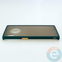 Накладка пластиковая матовая с силиконовой окантовкой для Huawei Mate 30 Pro зелёная