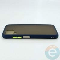Накладка пластиковая матовая с силиконовой окантовкой для Huawei Nova 6SE синяя