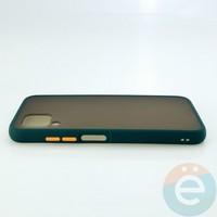 Накладка пластиковая матовая с силиконовой окантовкой для Huawei Nova 6SE зелёная