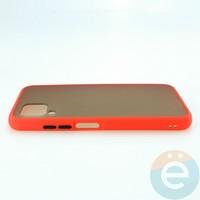 Накладка пластиковая матовая с силиконовой окантовкой для Huawei Nova 6SE красная