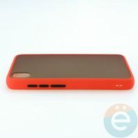 Накладка пластиковая матовая с силиконовой окантовкой для Xiaomi Redmi 7A красная