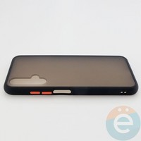 Накладка пластиковая матовая с силиконовой окантовкой для Huawei Honor 20 чёрная
