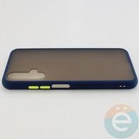 Накладка пластиковая матовая с силиконовой окантовкой для Huawei Honor 20 синяя