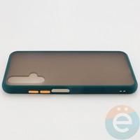 Накладка пластиковая матовая с силиконовой окантовкой для Huawei Honor 20 зелёная