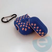Чехол силиконовый Nike для наушников Apple AirPods 1/2 сине-розовый 5