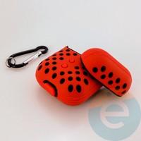 Чехол силиконовый Nike для наушников Apple AirPods 1/2 красно-чёрный 12