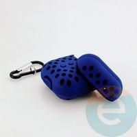 Чехол силиконовый Nike для наушников Apple AirPods 1/2 сине-чёрный 14