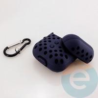 Чехол силиконовый Nike для наушников Apple AirPods 1/2 сине-чёрный 17