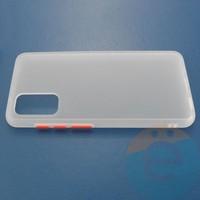 Накладка пластиковая матовая с силиконовой окантовкой для Samsung Galaxy S11E белая