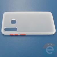 Накладка пластиковая матовая с силиконовой окантовкой для Samsung Galaxy A30/A20 белая