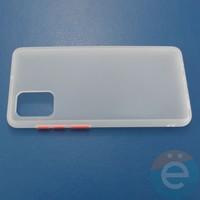 Накладка пластиковая матовая с силиконовой окантовкой для Samsung Galaxy A71 белая