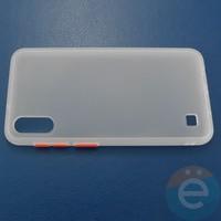 Накладка пластиковая матовая с силиконовой окантовкой для Samsung Galaxy A10 белая