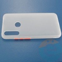 Накладка пластиковая матовая с силиконовой окантовкой для Samsung Galaxy A20S белая