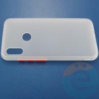Накладка пластиковая матовая с силиконовой окантовкой для Huawei Honor 7A/Y5 2018 белая