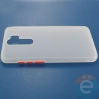 Накладка пластиковая матовая с силиконовой окантовкой для Xiaomi Redmi Note 8 Pro белая