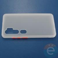 Накладка пластиковая матовая с силиконовой окантовкой для Xiaomi Mi Note 10 белая