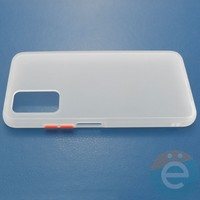 Накладка пластиковая матовая с силиконовой окантовкой для Huawei Honor V30 белая