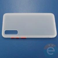 Накладка пластиковая матовая с силиконовой окантовкой для Samsung Galaxy A70 белая