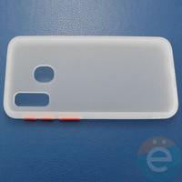 Накладка пластиковая матовая с силиконовой окантовкой для Samsung Galaxy A40 белая
