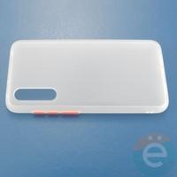 Накладка пластиковая матовая с силиконовой окантовкой для Xiaomi Mi A3 Lite/CC9 белая