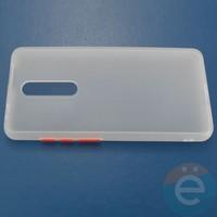Накладка пластиковая матовая с силиконовой окантовкой для Xiaomi Mi 9T/K20/K20 Pro белая