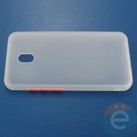 Накладка пластиковая матовая с силиконовой окантовкой для Xiaomi Redmi 8A белая